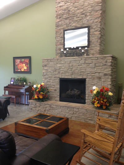 Aubrun Senior Center fireplace